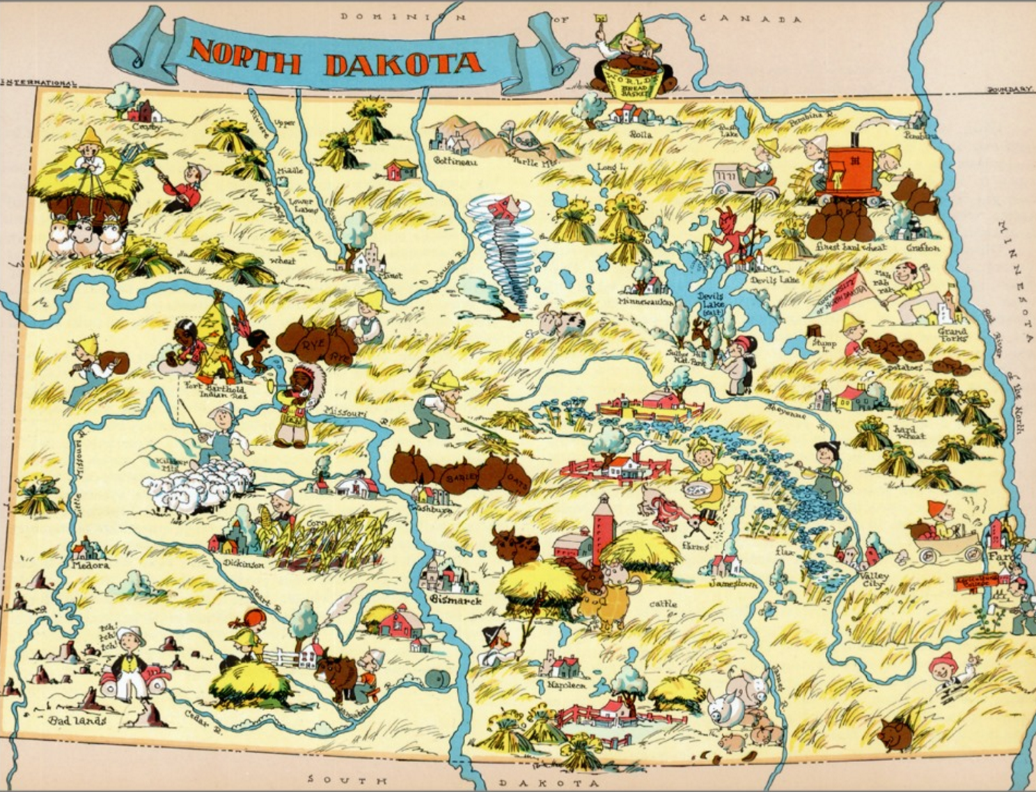 7 Maps Of North Dakota That Are Just Too Perfect