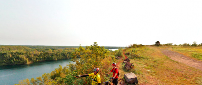 A drive or bike ride up Miner's Mountain means seeing the most stunning views in Minnesota. The forest is endless and the colors are always beautiful.