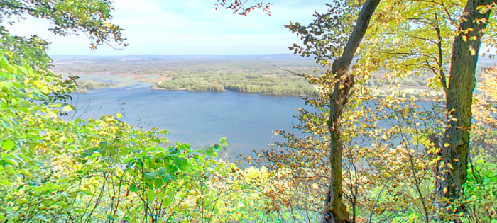 The hike itself is beautiful as well with stunning overlooks on the Mississippi Bluffs.