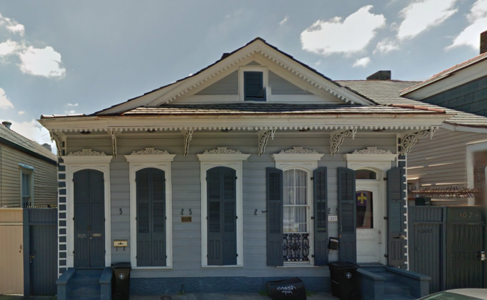 This is the house at 1020 St. Ann Street today.