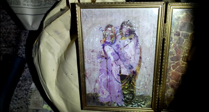 The rooms are filled with the artwork and personal belongings of the old family.