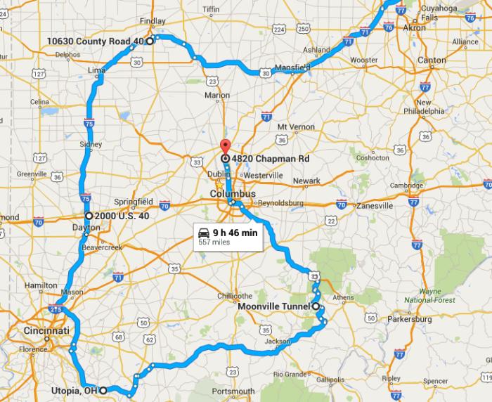 Athens Ohio Map Google.Road Trip Through Ohio S Ghost Towns