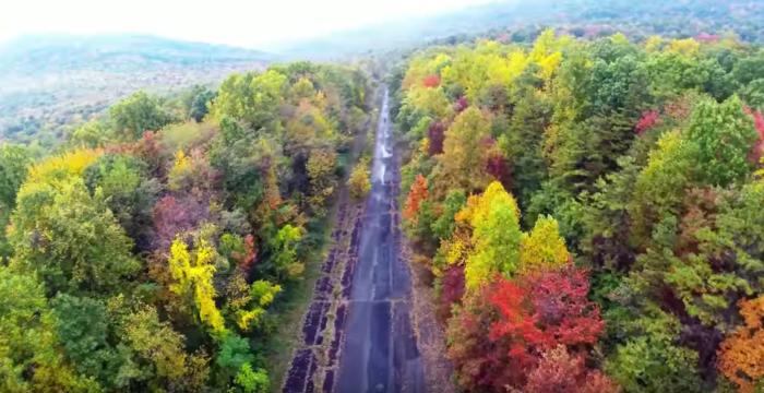 The Pennsylvania autumn foliage is simply stunning.