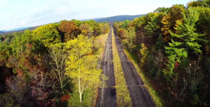This highway is now used as an unofficial bike trail.
