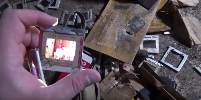 Vintage family slides provide clues about the home's past.