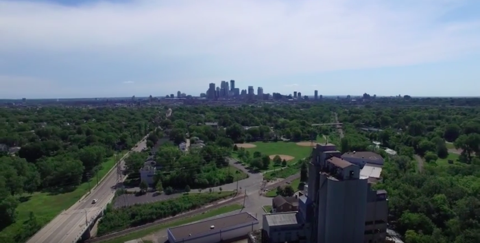 This drone footage shows Fruen Mill and the surrounding area like you've never seen it before, and even offers a peek at downtown Minneapolis!