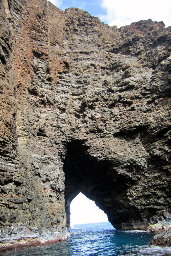 No one knows the Hawaiian name for this beautiful natural cathedral, thus it is simply referred to as the open ceiling cave.