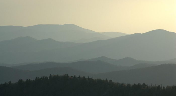 The Great Smoky Mountains in original colors