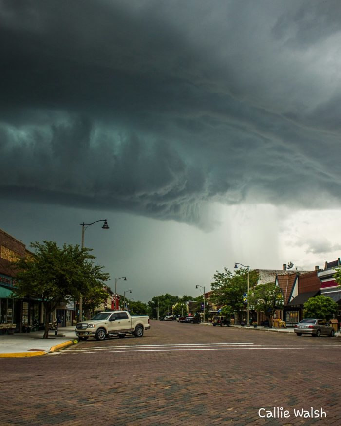 """6. """"Downtown Lindsborg as a storm rolled through"""""""