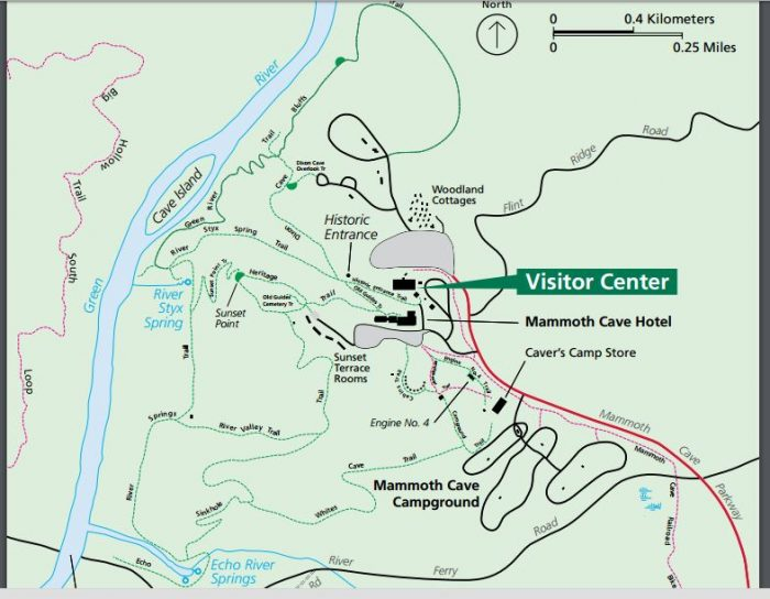 Visitor Center Map.