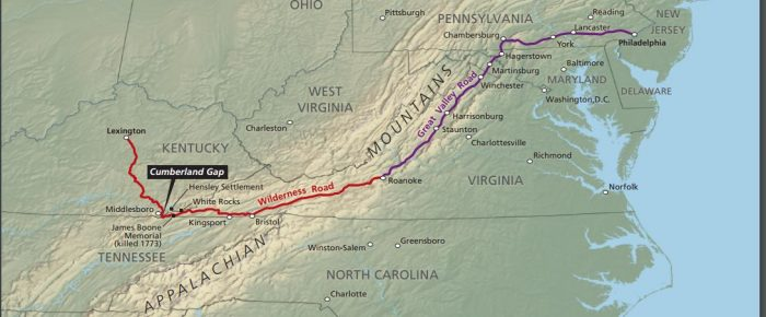 5. Cumberland Gap is home to Wilderness Road.