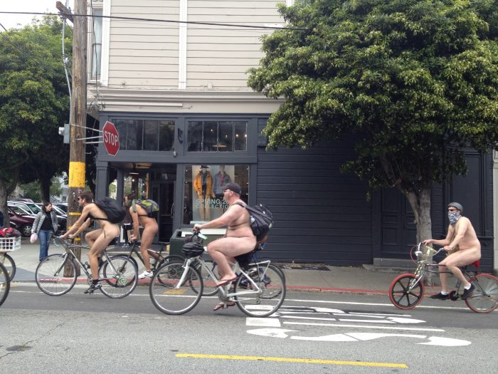 3. A controversial nudity ban that went into effect in 2013 says that you can only be naked in public if you have a parade permit.