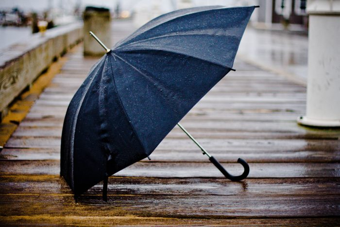 2. We also don't find too much of a purpose for umbrellas.