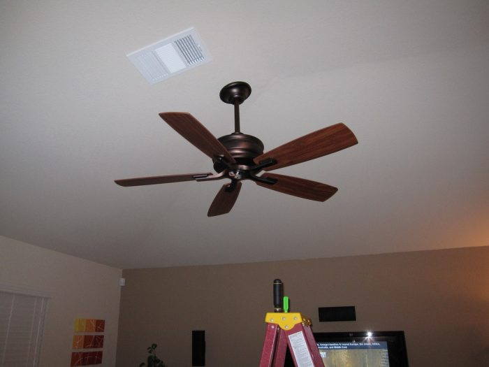 4. Run a ceiling fan during the winter.