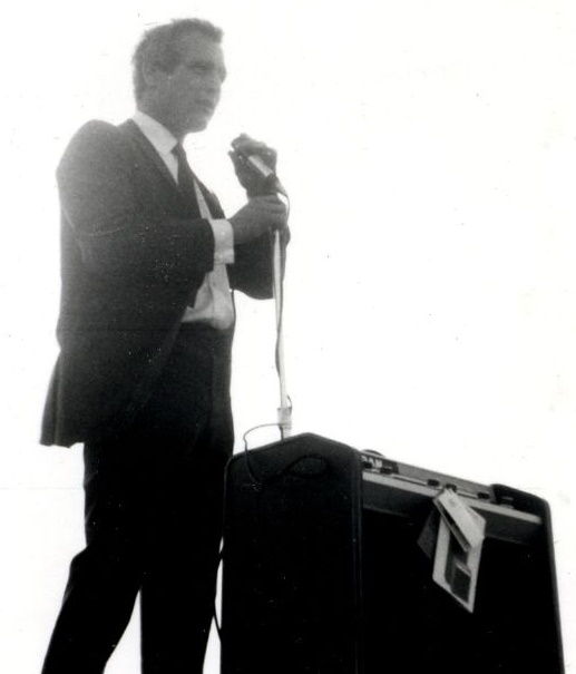 1. Paul Newman speaks at a political rally for Eugene McCarthy in the parking lot of Semon's  (Menomonee Falls) in 1968.