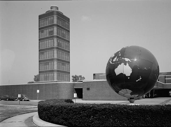 2. This is what Johnson Wax Headquarters in Racine looked like.