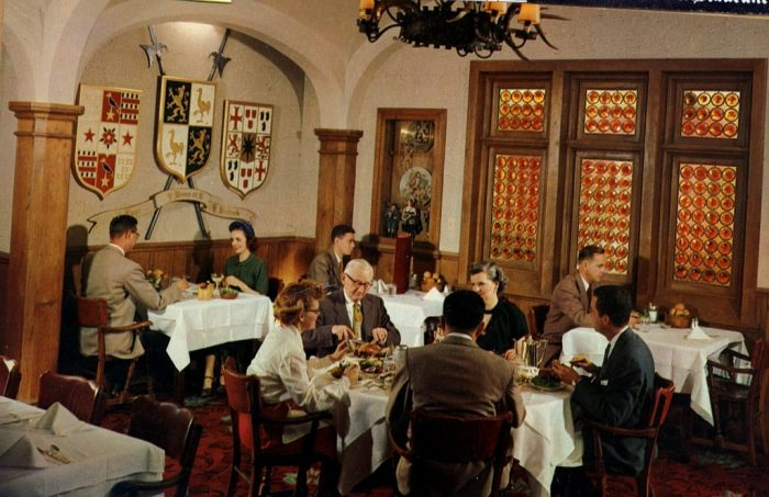 4. Diners enjoy a nice meal at Mader's Restaurant, Milwaukee.
