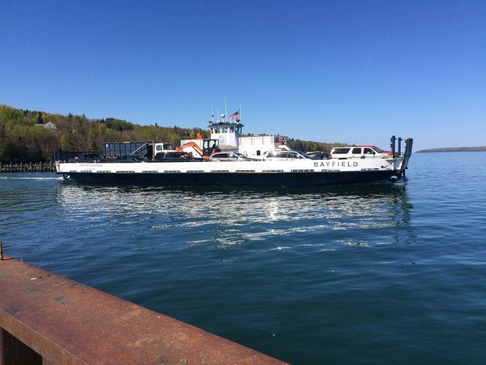 12. Finally, take a ferry over to the Apostle Islands.