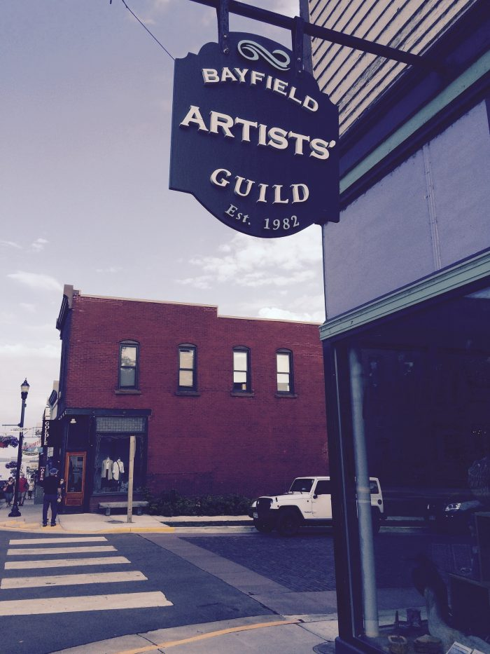 6. Loads of artists call Bayfield home.