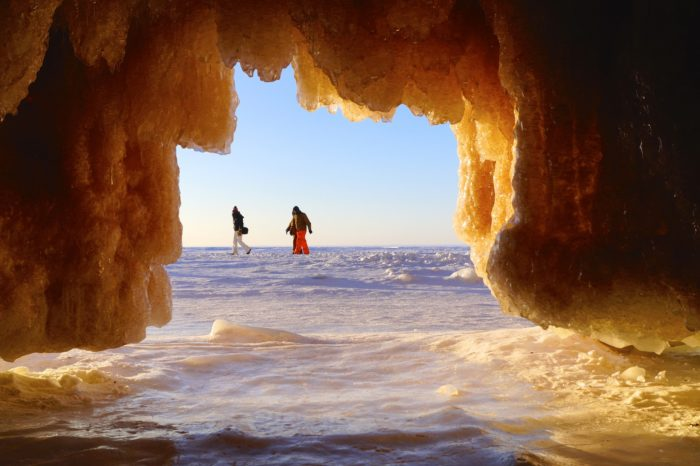 5. These caves were created by glaciers thousands of years ago.