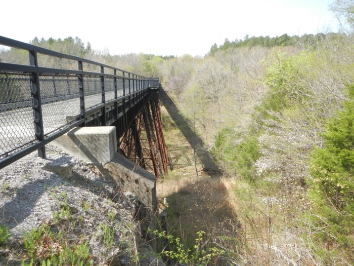 3. The route has 23 trestle bridges, one of which is 450 feet long.