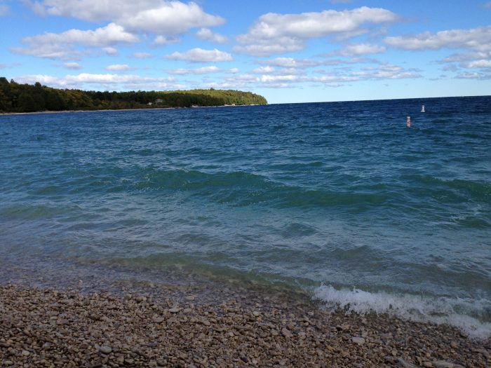 5. Right away, you'll notice that the beaches here are absolutely phenomenal--particularly Schoolhouse Beach.
