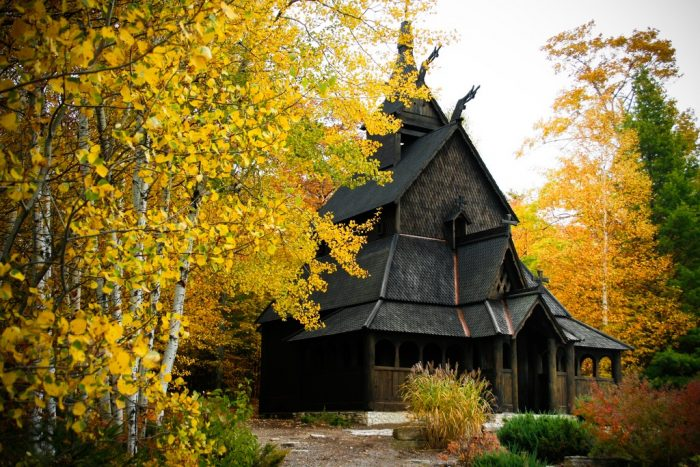 4. You can visit a Stavekikre, which is a Scandinavian church popular during the Medieval period.