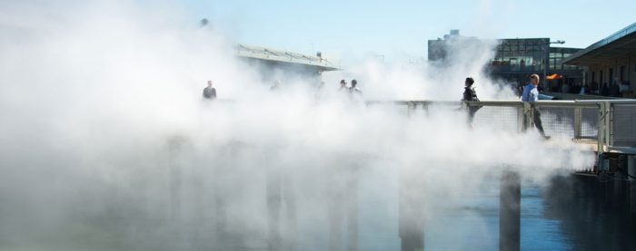 6. Feel like you're walking on clouds at the Fog Bridge at Piers 15 & 17.
