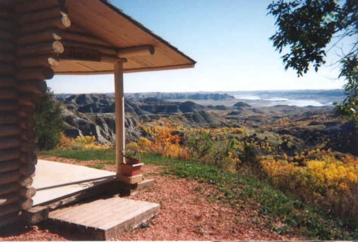 1. A cabin with a breathtaking view in Killdeer, ND