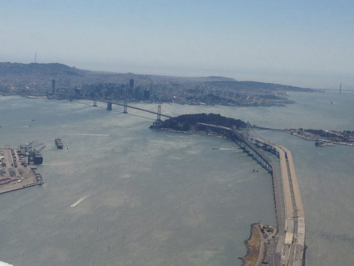11. This gives you the vantage point from Oakland, with a nice close-up of the Bay Bridge as it looks out toward San Francisco.
