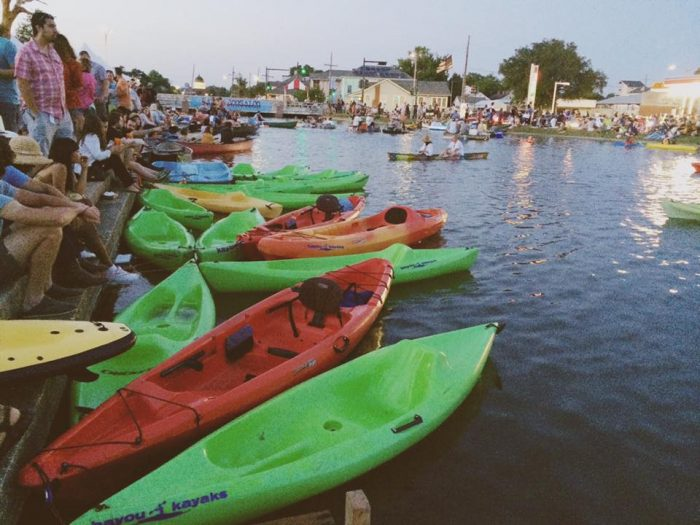 At the most recent Bayou Boogaloo, the influx of paddlers made it hard to navigate the Bayou's waters.