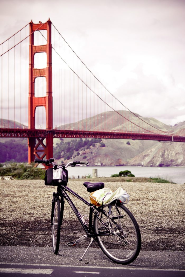 5. Rent a bike, cross the Golden Gate Bridge, and coast your way down to Sausalito.