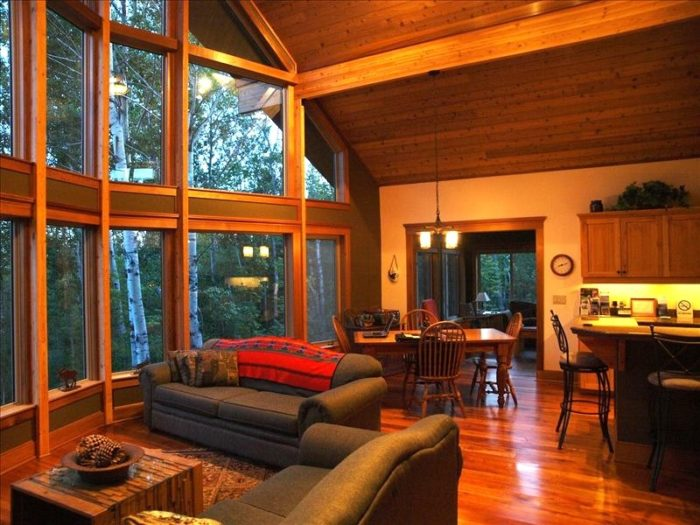 8. This elegant cabin near Lutsen sleeps 12 and has stunning views in every room.