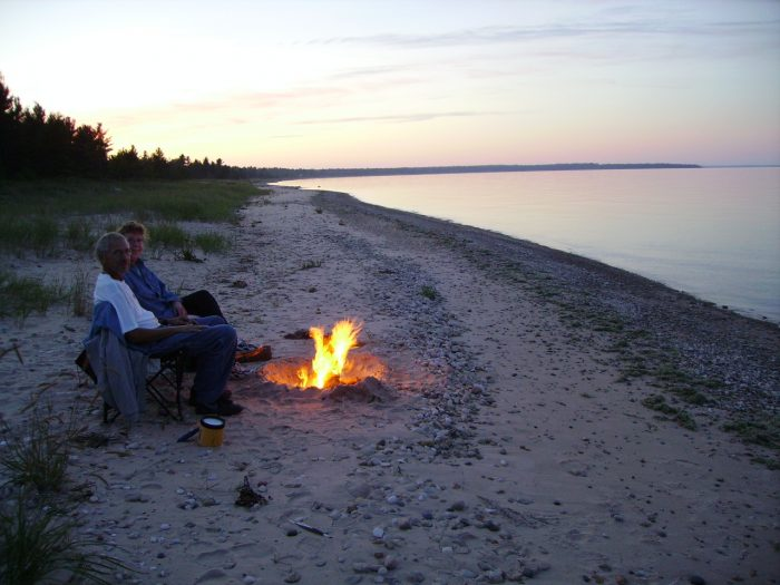 4. Maybe set up a bonfire or go camping.
