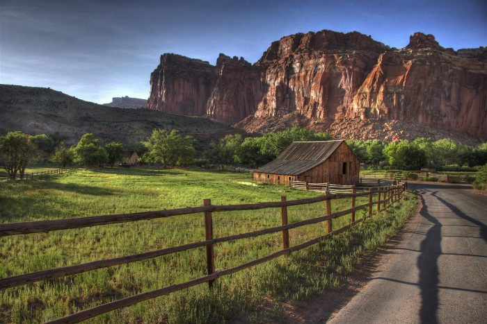 10. Utah: The Gifford Homestead at Capitol Reef National Park was built in 1908. Though no longer a working farm, it's a gorgeous feature of the park and the perfect spot for a picnic.