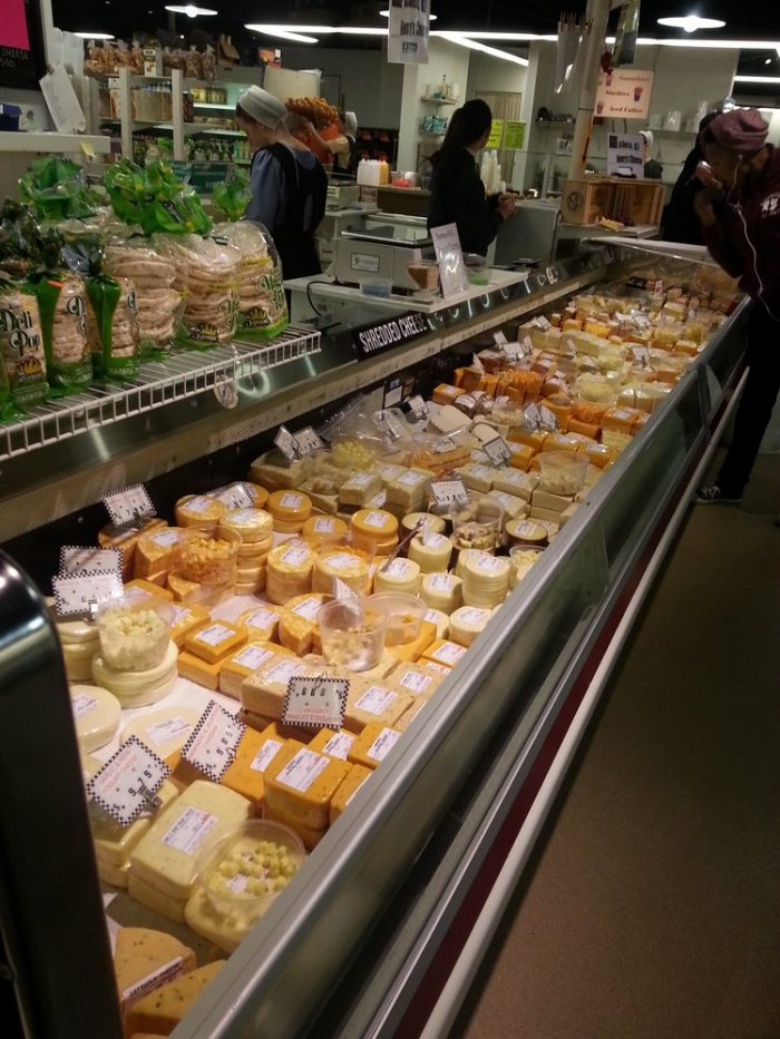 Or how about this delightful plethora of cheeses, which you can sample to your heart's desire?