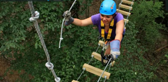 The TimberTrek Adventure Park is part of Adventures on the Gorge.