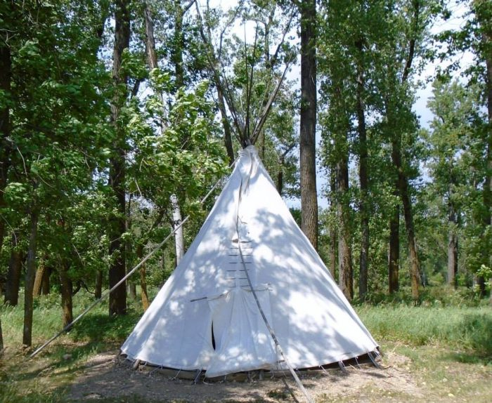 6. Rough it in a tipi at Cross Ranch State Park in Center, ND