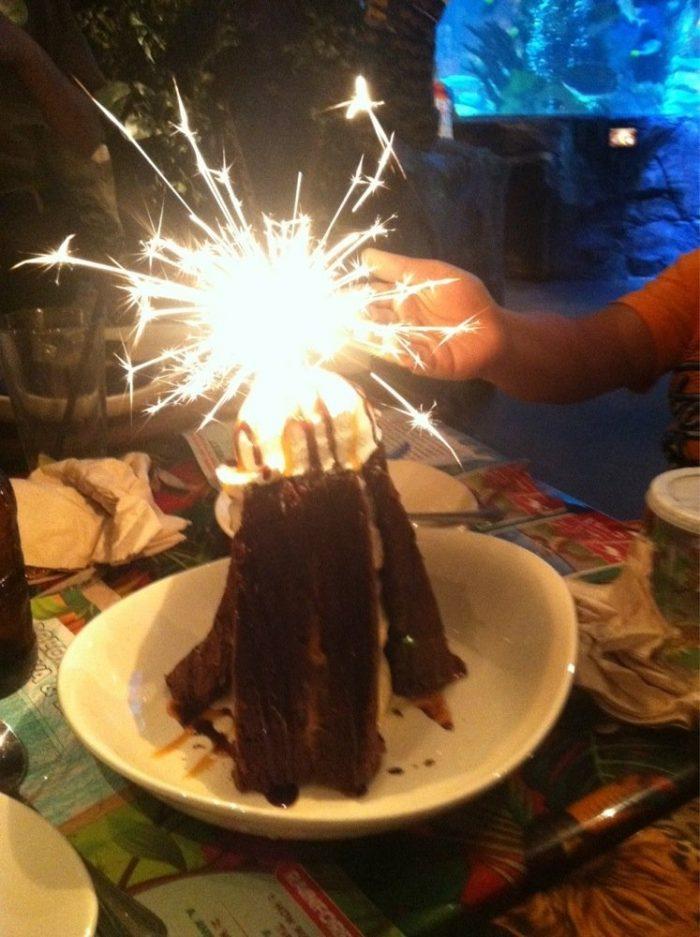 1. The Volcano at Rainforest Cafe (Galveston)