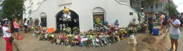 3. Emanuel AME Church in Charleston in the days after June 17, 2015.