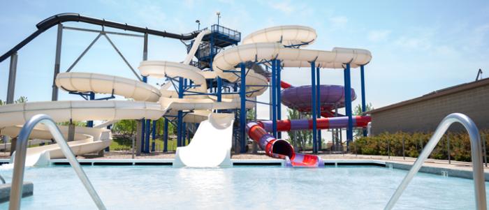 8. Make a splash at a local water park.