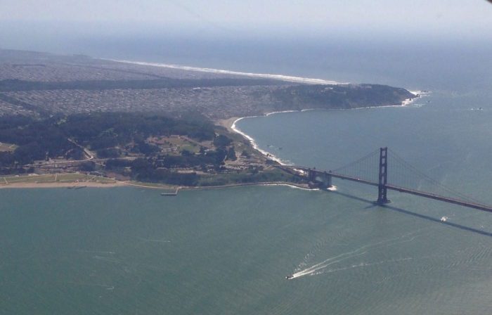 13. Check out that incredible coastline and the Golden Gate Bridge in all its glory.