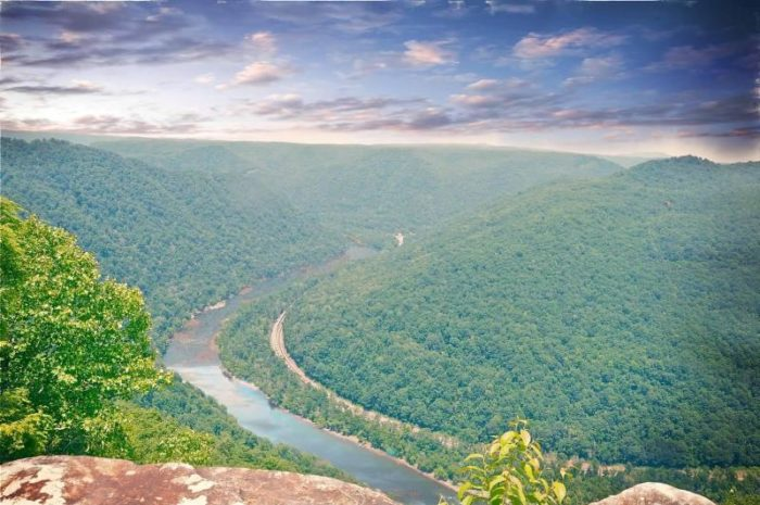 8. Grandview Overlook at New River Gorge National River