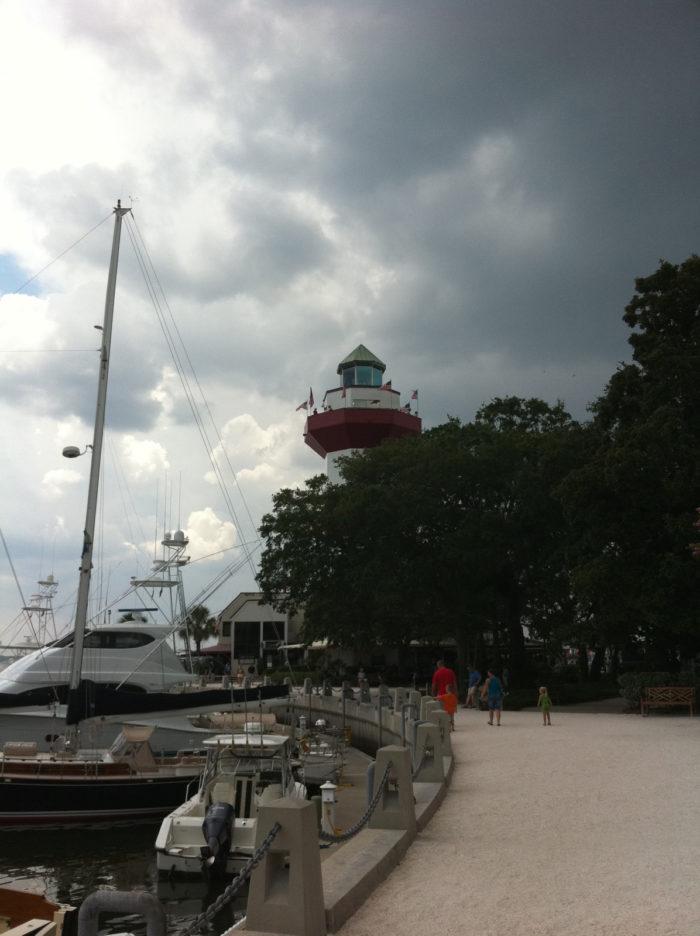 5. Harbour Town promenade on Hilton Head Island