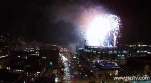 This Bird's Eye View Of Denver's Coors Field Fireworks Is Mesmerizing
