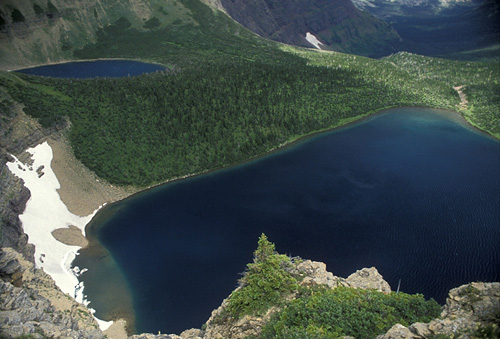 6. The Glacier Lake Trail offers this breathtaking (but heart-pounding) scenery. .