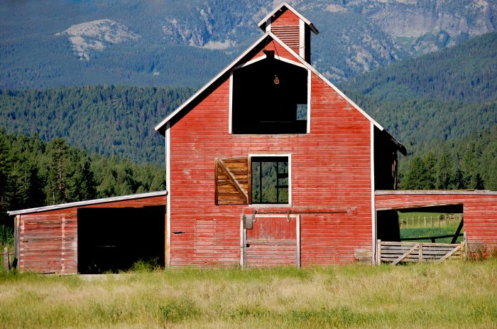 9. This classic barn shot shows the simple rustic beauty you'll only find on a Montana farm.