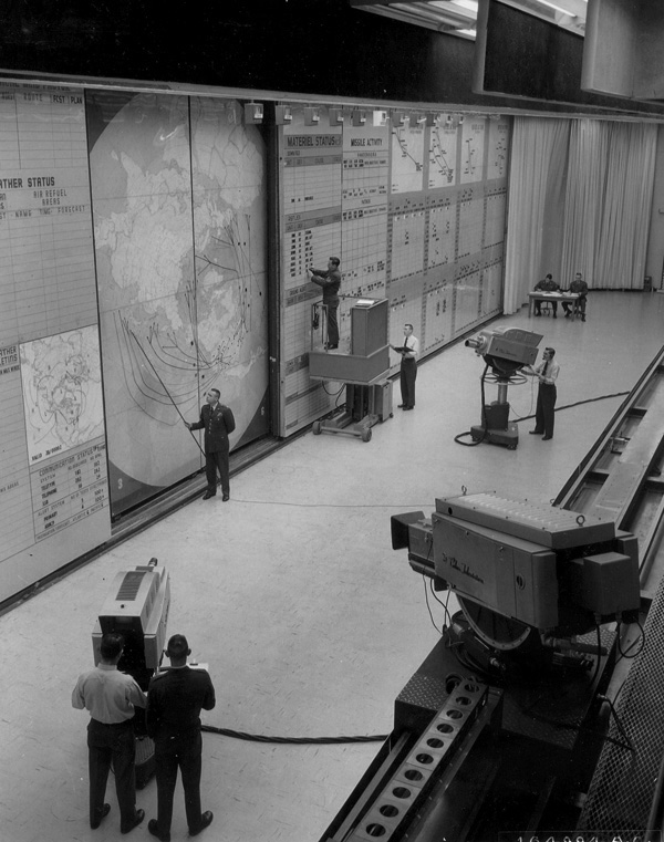 3. A look at the SAC Command Post Headquarters in 1961.