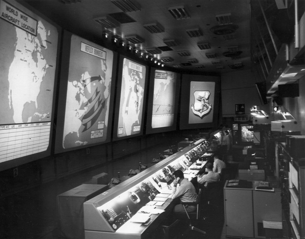 4. The underground visual display system keeps personnel constantly updated, 1961.