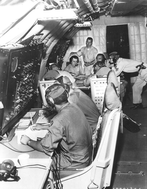 6. One of five Stratotankers, or airborne command posts, in 1961.
